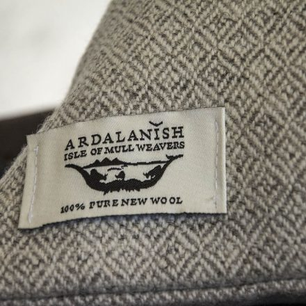 Ardalanish Mill, Isle of Mull, Tweed Cushion Covers, Label