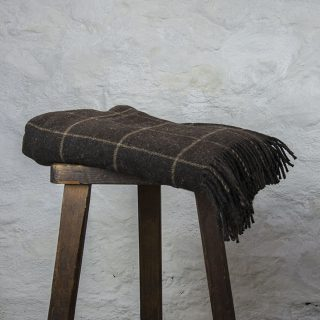 Ardalanish Mill, Isle of Mull, Hebridean with large Manx check blanket