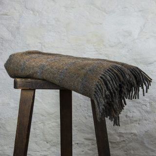 Ardalanish Mill, Isle of Mull, Silver Manx Check Blanket