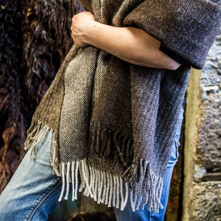 Ardalanish Mill, Isle of Mull, Brown Ombre wrap