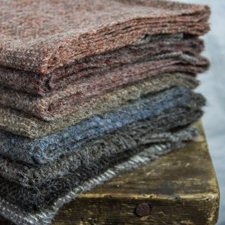 Ardalanish Mill, Isle of Mull, Group Shot, Dark Fleck Scarves