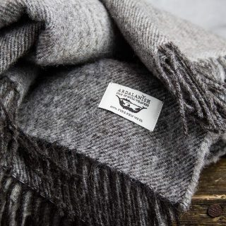 Ardalanish Mill, Isle of Mull, Grey Ombre wrap, detail