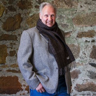 Ardalanish Mill, Isle of Mull, Random Wrap Stripe scarf, Model
