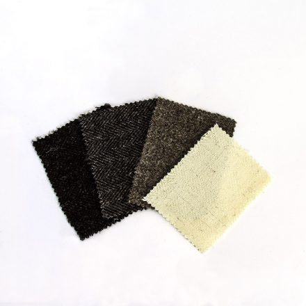 Ardalanish Mill, Isle of Mull, Herringbone Tweed Samples