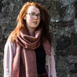 Ardalanish Mill, Isle of Mull, Lightweight Wide Scarf, Model