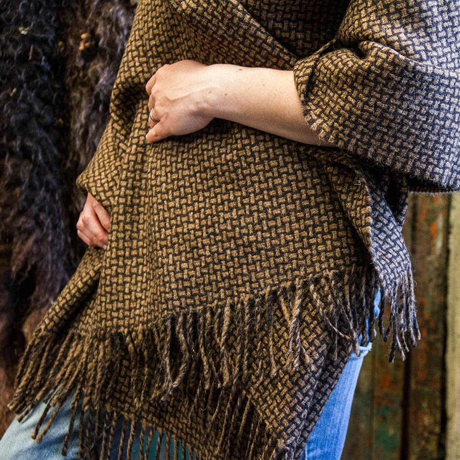 Ardalanish Mill, Isle of Mull, Manx and Hebridean basket weave wrap, detail