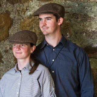 Ardalanish Mill, Isle of Mull, Tweed Flat Caps, Model