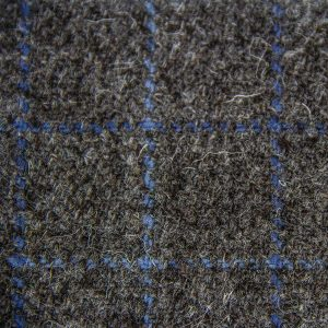 Ardalanish Mill, Isle of Mull, Smokey Woad Tattersal Tweed Swatch